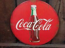 NEW METAL RED COCA COLA COKE BUTTON STYLE DECOR* antique retro style soda bottle