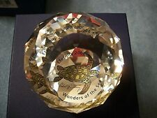 "Swarovski Crystal 2006 Eternity Round Paperweight Turtle ""Wonders of The Sea"""