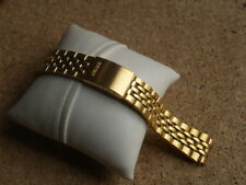 SEIKO 19mm STAINLESS STEEL GOLD COLOURED WATCH STRAP CURVED ENDS B18-78.E