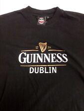 Guinness Beer Established 1759 Irish Whiskey Mens L Black St Patricks T-Shirt