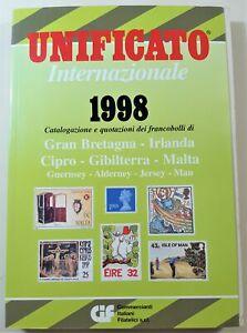 Filatelia Catalogo Unificato internazionale 1998 Gran Bretagna e Irlanda Cipro G