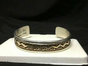 Signed Darin Bill Sterling Silver 1/20K Gold Filled Cuff Bracelet
