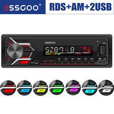 RDS Autoradio FM Bluetooth Freisprecheinrichtung 2 USB AM 7 Farben Aux-In 1 DIN