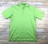 Nike Tiger Woods Collection Mens Size Medium Green Polo Shirt Fit Dry Golf