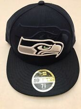 Seattle Seahawks Hat New Era Navy Official NFL Low Profile 59FIFTY Fitted 7 5/8