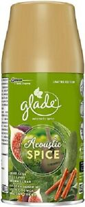 3 x 269ml GLADE AUTOMATIC SPRAY REFILLS. ACOUSTIC SPICE