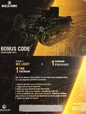World of Tanks Konsole Bonuscode M3 Light WoT Wargaming Code