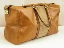 "Vintage DIOR woman Travel Bag Original ""BOSTON"" Pure 70s Genuine Leather Suede"