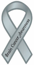 Ribbon Awareness Support Magnet - Brain Cancer - Cars, Trucks, Refrigerator