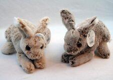 2x Plüsch Hase ca 22 cm beige und braun Plüschhase