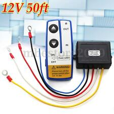 12V 50ft Electric Winch Wireless Remote Control System Switch For Truck ATV SUV