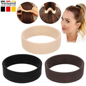 3er Haargummis Wide Clip Haarband Pferdeschwanz Zopfgummi Silikon Hair Tie