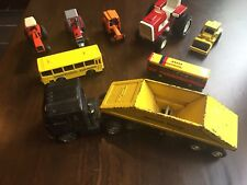 Vintage Diecast Toy Truck Tractor Lot~Ertl Allis Chalmers 7045, MF 2775,Tonka