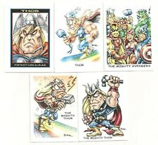 Thor  Caricature Lot ( 5 Different ) W/ Avengers        NICE!!!!