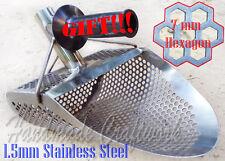 Hexagon -7 Beach Sand Scoop Metal Detector Hunting Tool Stainless Steel by Coob