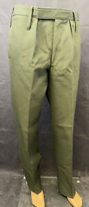 British Army Dark Green Barrack Dress Parade Straight Leg Trousers