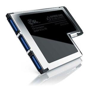 CSL USB 3.0 ExpressCard (54mm/3 Port) Schnittstellenkarte Adapter 3x USB 3.0