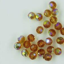 5000 6 TX ***15 perles RONDES cristal de Swarovski 6mm  TOPAZ AB