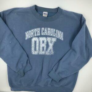 North Carolina OBX Outer Banks Gildan Womens Sweatshirt Crew Blue Pullover L