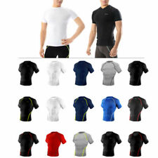 Take Five Mens Skin Tight Compression Base Layer Running Shirt S~2XL White NT046