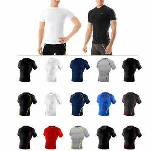Take Five Mens Skin Tight Compression Base Layer Running Shirt S~2XL White NT046