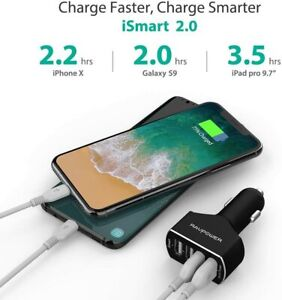 4-Port USB Car Charger Adapter stable charge Quick Charge Safer Better Charge