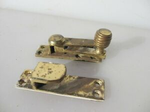 Vintage Brass Sash Window Latch Lock Catch Fastener Old Beehive Mid Century