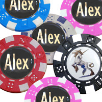 Best Impressions Personalised Poker Chip Golf Ball Markers