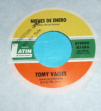 """Tomy Valles - Nieves de Enero & El Abandonado / 1980 Discos Latin 7"""" 45 Promo"""