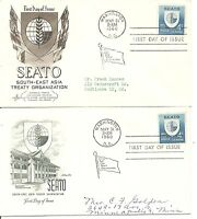 US Scott # 1151 Seato FDC.Adressed. Artcraft And Artmaster Cachets. 2 Covers.