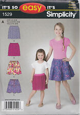 simplicity 1529 a Sewing Pattern Girls so Easy Skirt