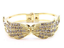 CRYSTAL BUTTERFLY  HINGED BRACELET