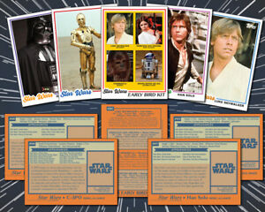 STAR WARS: (5 Card Lot) 1978 Topps Style Custom Baseball Trading Cards