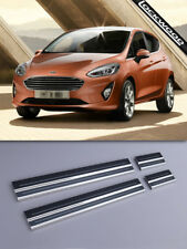 Ford Fiesta 4 Door (Mk8, released 2017) Stainless Sill Protectors / Kick Plates