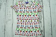 USED VERSACE x H&M SHIRT POLO BUTTON TOP FRUITS RARE EUR M US8 EUR 38