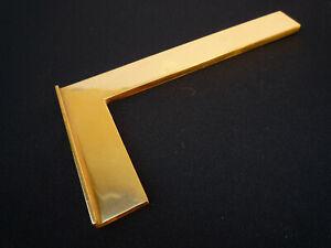 Auböck Paperweight Winkel Messing poliert Modernist Austria midcentury Design