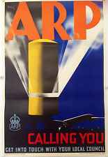 Original British poster WW2 ARP by Pat Keely 1938