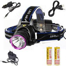5000LM XM-L T6 LED Headlamp Headlight Head Torch Lamp Light+18650+AC/Car Charger