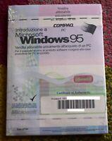 MICROSOFT WINDOWS 95 SISTEMA OPERATIVO CON MANUALE NUOVO SIGILLATO ITALIANO