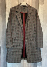 Atmosphere Primark Houndstooth Check Boyfriend Coat Jacket Size 10