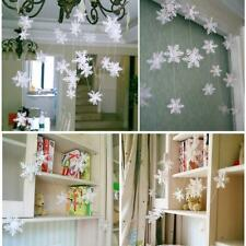 3D Party Paper Snowflake Garland Bunting Banner Christmas Wedding Decorations 3M