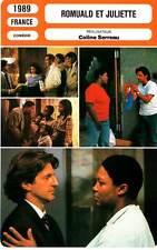 FICHE CINEMA : ROMUALD ET JULIETTE - Auteuil,Richard,Vernier,Serreau 1989