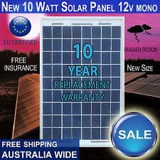 10W 12V Solar Panel Mono  Battery A-Grade - FREE FREIGHT