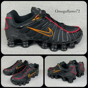 Nike SHOX TL, Sz UK 9, EU 44, US 10, CV1644-001, Black & Magma Orange