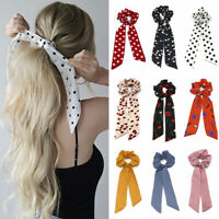 Accessories Elastic Hair Bow Ties Floral Bow Scrunchie Hair Rope Ponytail Scarf