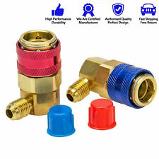 AC Manifold Gauge R134a Hose Conversion Quick Adapter Fitting Coupler High Low