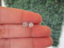 ".40 CTW Diamond Stud Earrings 18k White Gold E360 / E10 sep ""SP"""