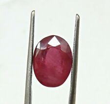 7.80 Cts Natural Certified Burma Mines Ruby Oval Cut Loose Gemstone