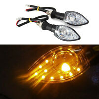 2pcs Universal Motorcycle LED Turn Signal Light Indicator Blinker Lights Black