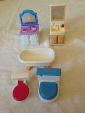 Fisher Price Dollhouse Accessories Furniture Lot Of 24 (USED)